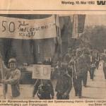 Siedlerumzug zum 50 jährigen Bestehen